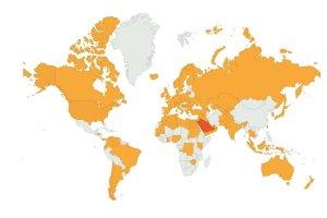الزيارات من دول العالم